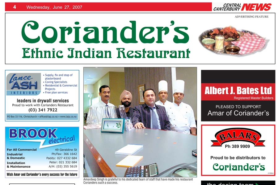 central canterbury news corianders