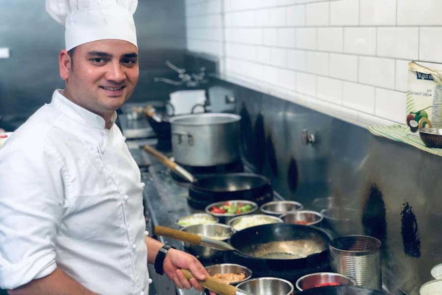 corianders head chef pankaj kumar