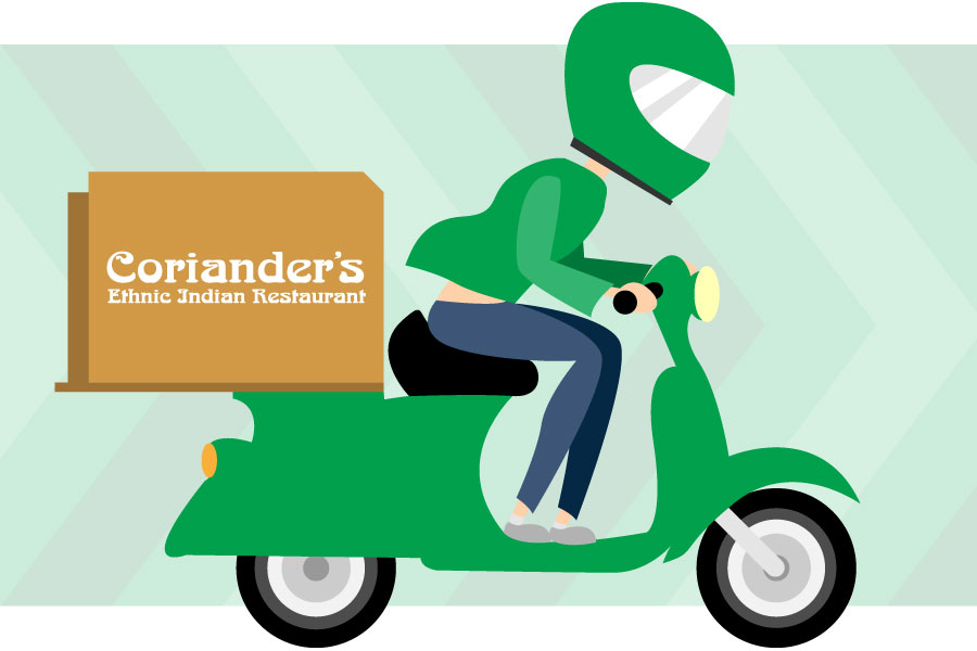Coriander's Order in-store, online, by phone, pickup, delivery and Uber Eats
