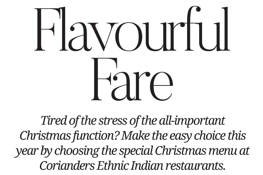 metropol corianders flavourful fare