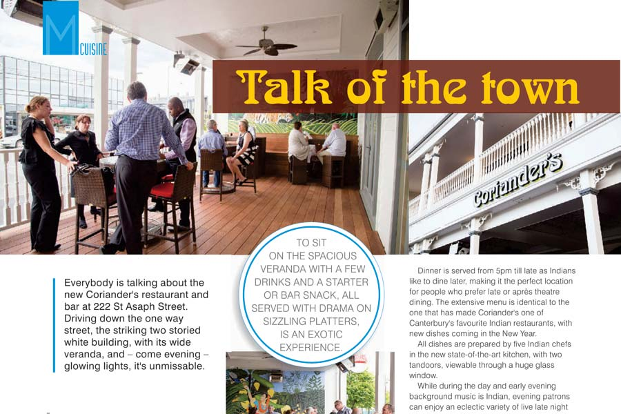 metropol coriander's talk of the town